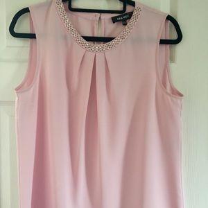 Cute Nine West light Pink Blouse L